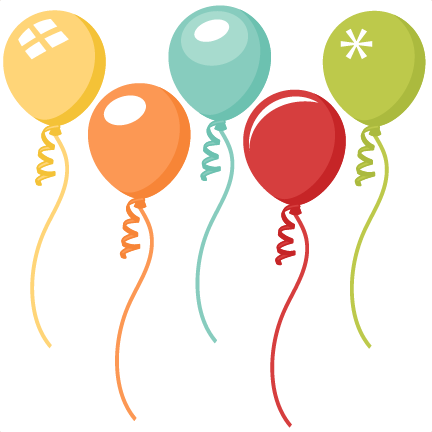Birthday balloons clipart file svg royalty free download Balloon Set scrapbook cut file cute clipart files for silhouette ... svg royalty free download