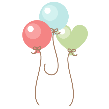 Birthday balloons clipart file graphic freeuse library Free Cute Balloon Cliparts, Download Free Clip Art, Free Clip Art on ... graphic freeuse library