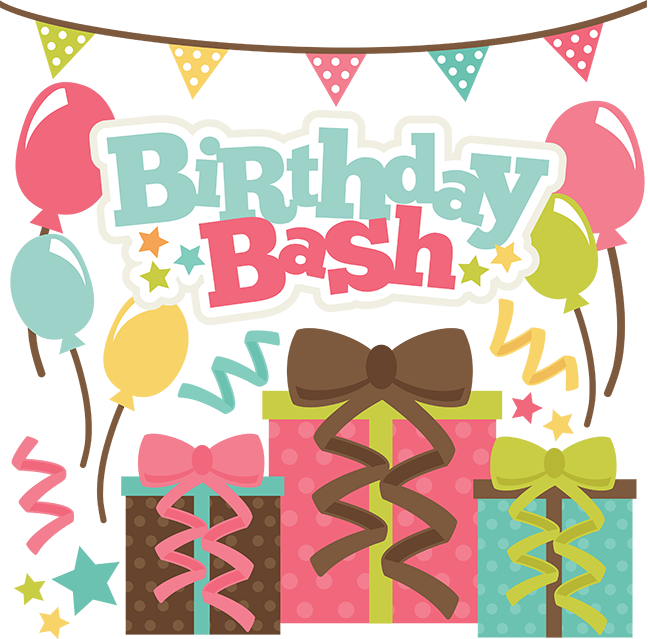 Birthday bash clipart vector black and white Birthday Party Background clipart - Birthday, Party, Food ... vector black and white
