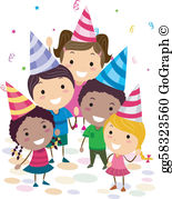 Birthday bash clipart jpg library download Birthday Party Clip Art - Royalty Free - GoGraph jpg library download