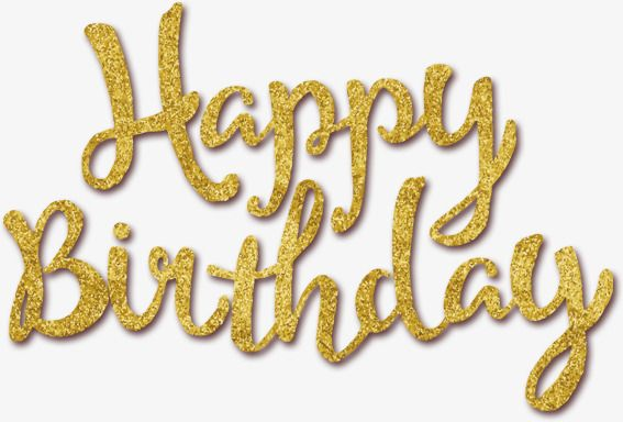 Birthday bling clipart svg library library Golden Happy Birthday, Birthday Clipart, Golden, Happy Birthday PNG ... svg library library
