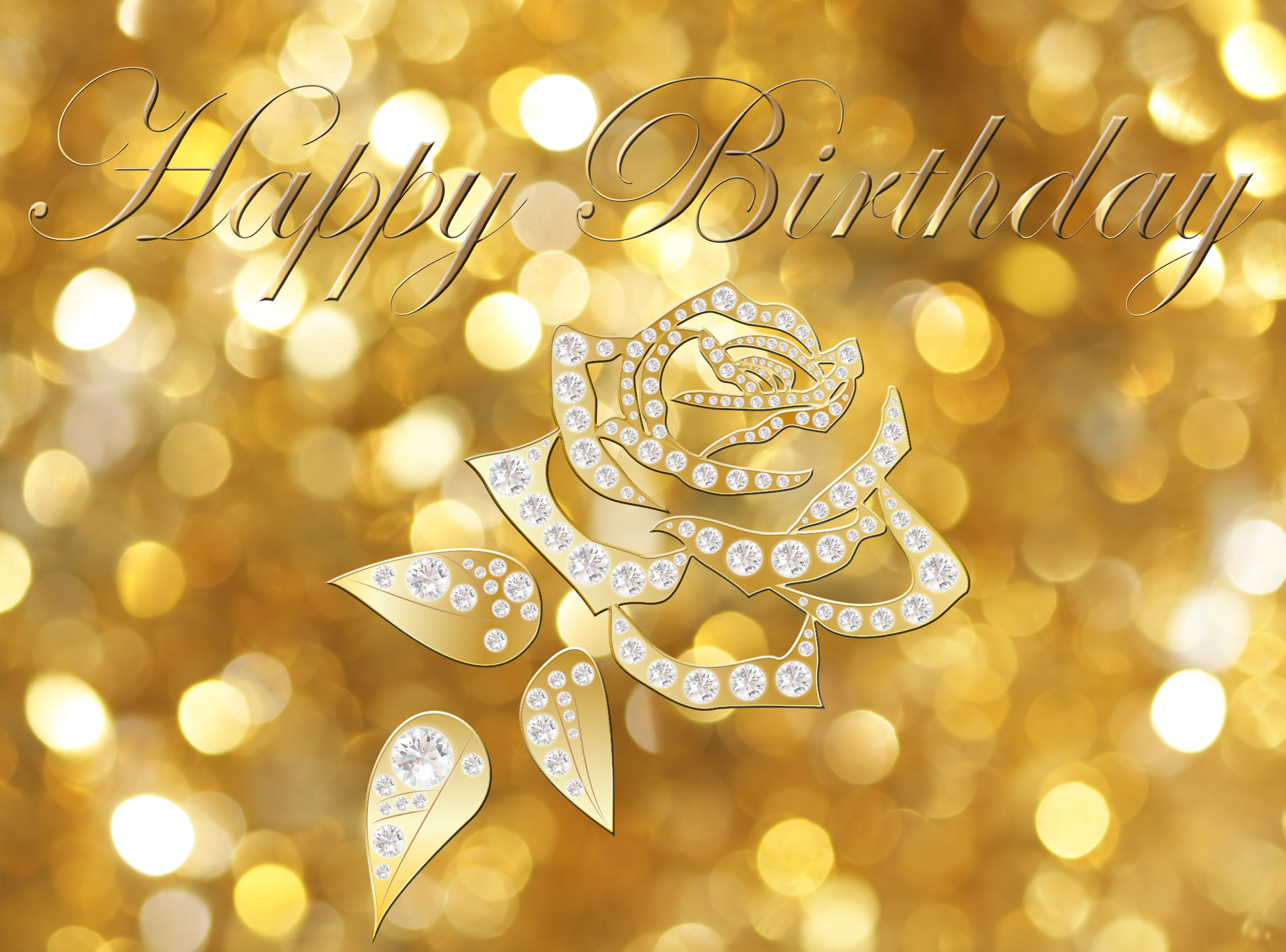 Birthday bling clipart royalty free download Happy Birthday Gold Card | Gallery Yopriceville - High-Quality ... royalty free download