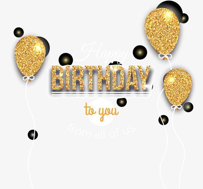 Birthday bling clipart image freeuse library Vector Golden Birthday Celebration Balloons, Birthday Clipart ... image freeuse library