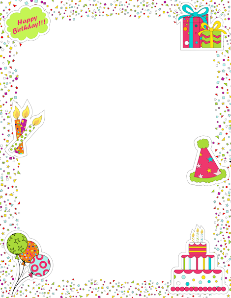 Birthday border clipart free picture black and white library Pin by Muse Printables on Page Borders and Border Clip Art | Page ... picture black and white library