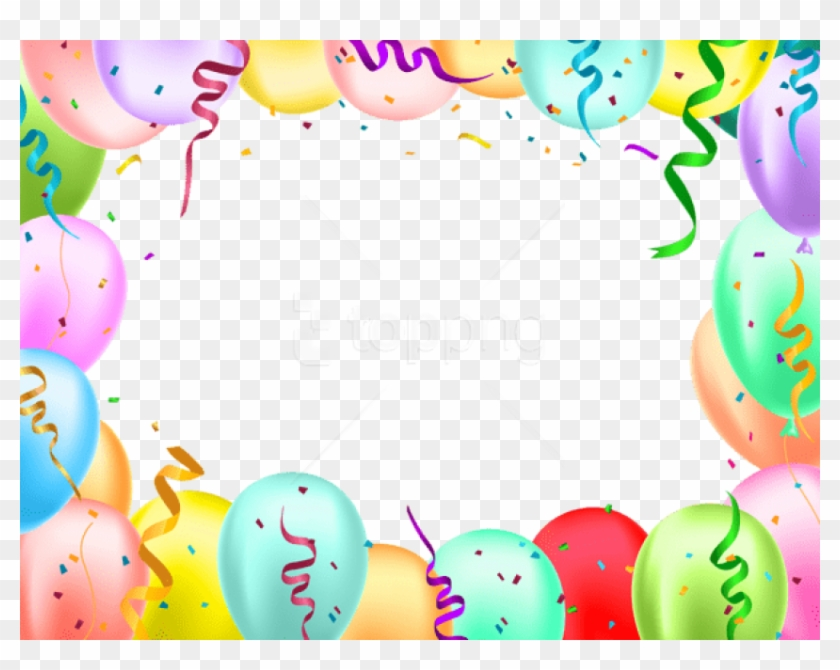Birthday border clipart free image royalty free Free Png Download Birthday Border With Balloons Transparent ... image royalty free