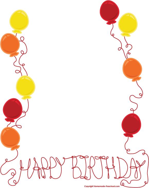 Birthday border clipart free jpg stock Free Free Birthday Borders, Download Free Clip Art, Free Clip Art on ... jpg stock