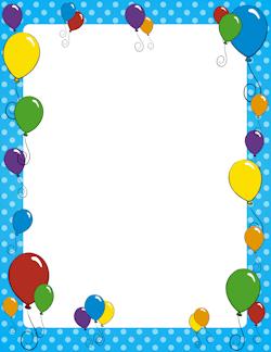 Birthday border clipart free jpg free Free Birthday Borders: Clip Art, Page Borders, and Vector Graphics jpg free