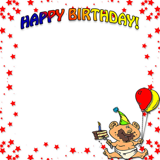 Birthday picture frame clipart banner black and white Free Birthday Borders - Happy Birthday Border Clip Art banner black and white