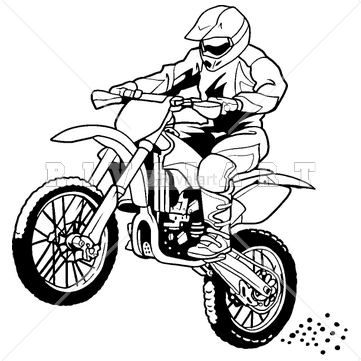 Birthday boy motorcycle helmets clipart svg free library Sports Clipart Image of A Motocross Rider On A Dirt Bike | Motocross ... svg free library