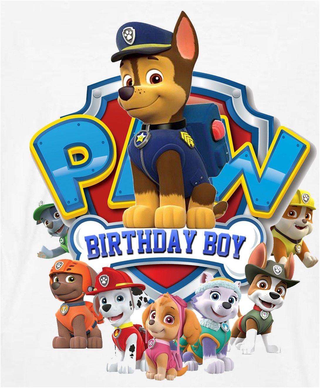 Birthday boy paw patrol clipart graphic library library $2.99 - ::::::::::::::Paw Patrol Birthday Boy:::::::::::::::::: T ... graphic library library