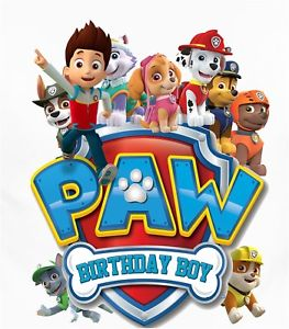 Birthday boy paw patrol clipart png freeuse download Details about :::::::::::::::::PAW PATROL BIRTHDAY BOY::::::::::::::::SHIRT  IRON ON TRANSFER png freeuse download