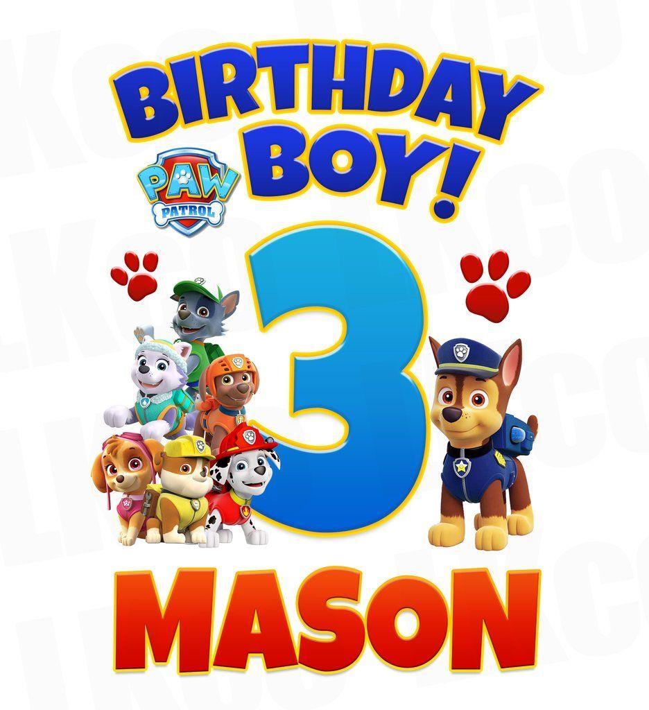 Birthday boy paw patrol clipart freeuse download Paw Patrol Iron On Transfer - Birthday Boy | daxs first birthday in ... freeuse download