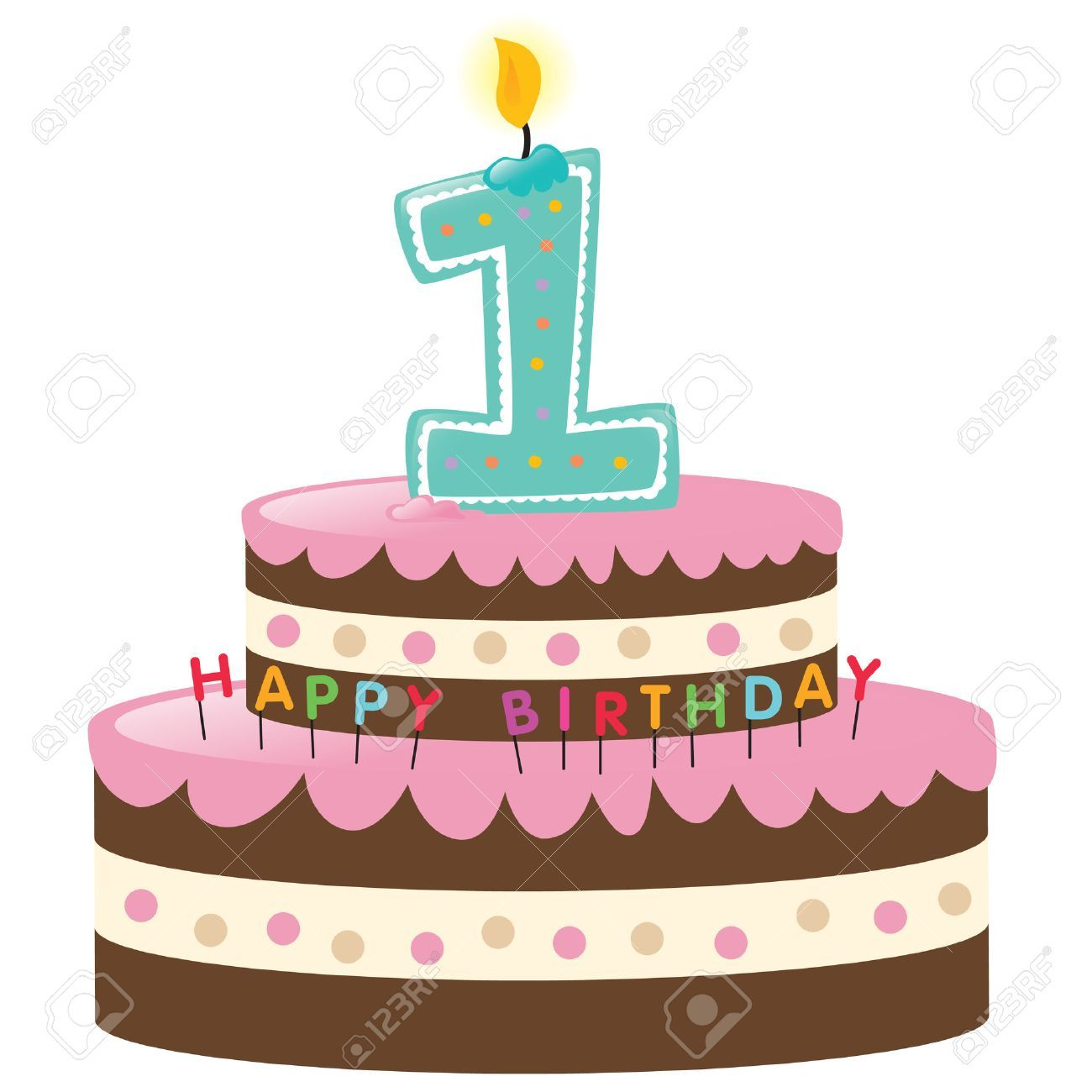 Birthday cake 1 clipart banner library library 1st birthday cake clipart 1 » Clipart Portal banner library library