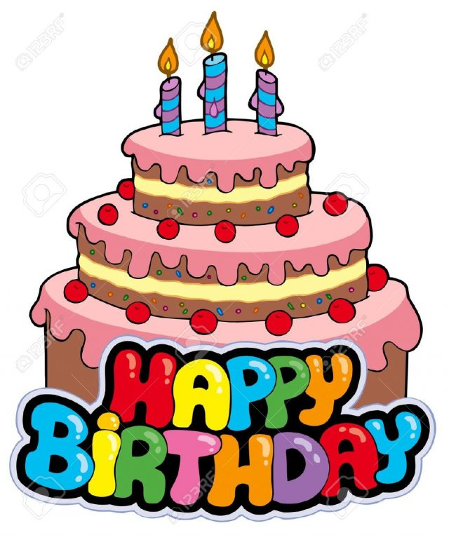 Birthday cake 18 candles clipart stock Top 20 Unique Birthday Cake Clipart - 9 Happy Birthday stock