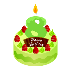 Birthday cake 18 candles clipart png stock Free birthday Cliparts & Pictures|Illustoon png stock