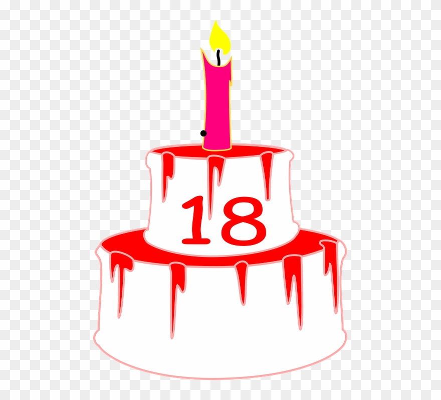 Birthday cake 18 candles clipart clip free library Birthday Cakes Graphics 28, Buy Clip Art - 18 Birthday Cake Png ... clip free library