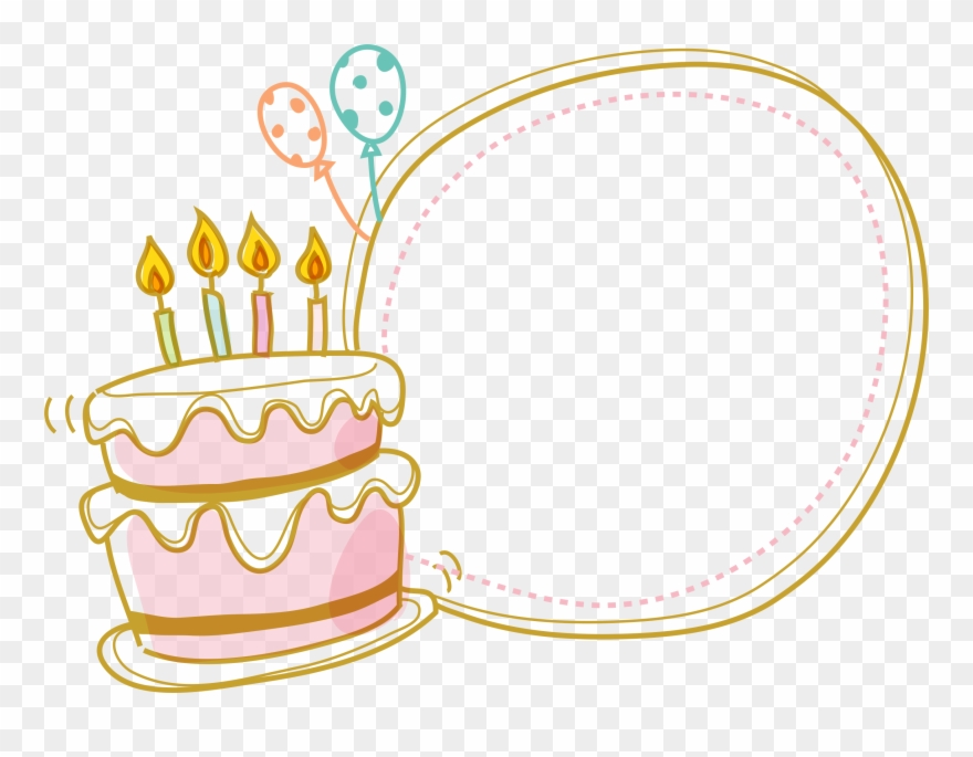 Birthday cake border clipart black and white png royalty free download Cake Birthday Border Free Clipart Hq Clipart - Birthday Cake Border ... png royalty free download