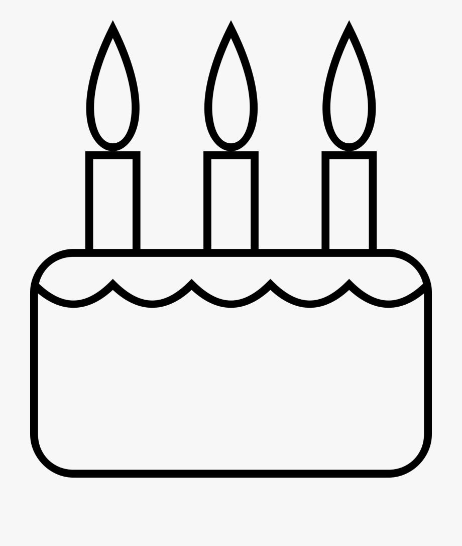 Birthday cake border clipart black and white clipart transparent Birthday Cake Black And White Clipart - Birthday Cake Black And ... clipart transparent