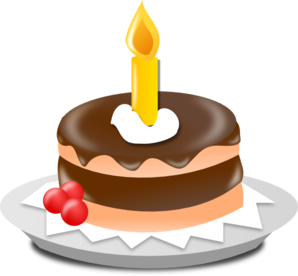 Birthday cake candle clipart banner royalty free Birthday Cake And Candle Clip Art at Clker.com - vector clip art ... banner royalty free