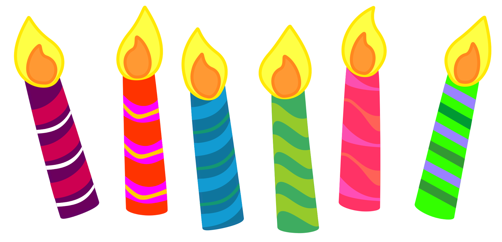 Birthday cake candle clipart png 3 Birthday Cake Candles Clipart - Clipart Kid png