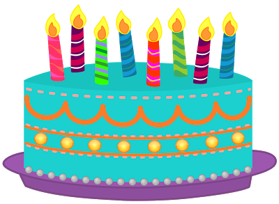 Birthday cake candle clipart jpg free library Birthday cake with lots of candles clipart - ClipartFest jpg free library