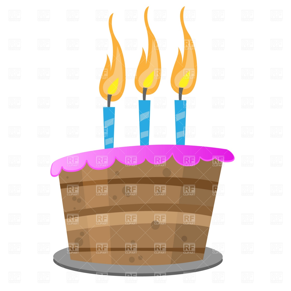 Birthday cake candle clipart clip art freeuse download 3 Birthday Cake Candles Clipart - Clipart Kid clip art freeuse download