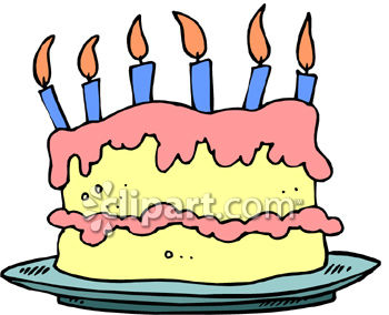 Birthday cake candle clipart vector royalty free download Happy birthday cake with candles clipart - ClipartFest vector royalty free download