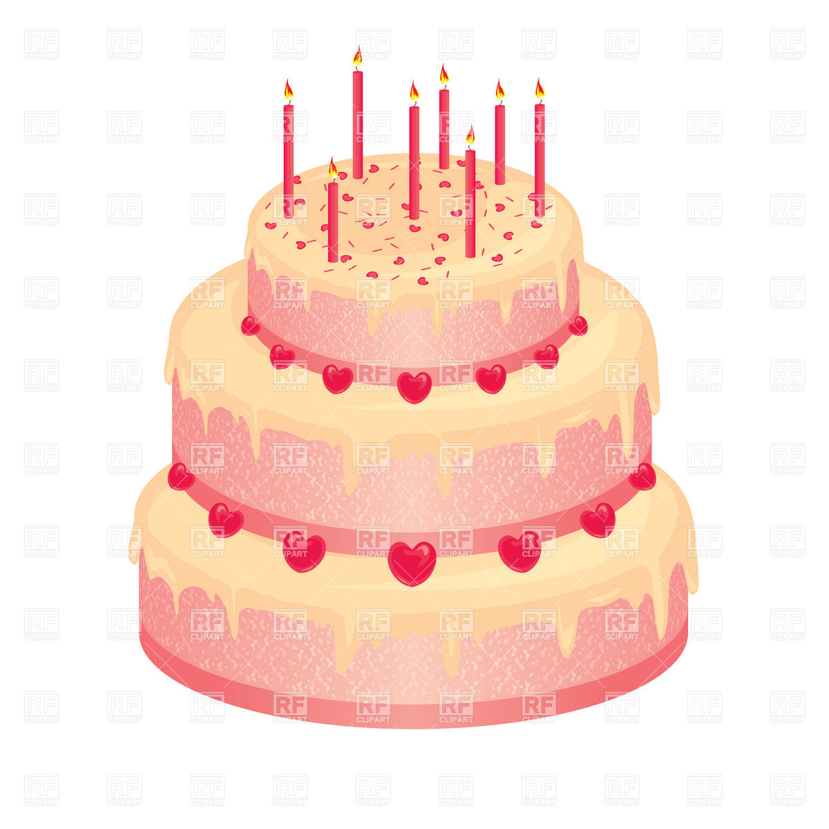 Birthday cake candle clipart image free library 70 Birthday Cake Candles Clipart - Clipart Kid image free library
