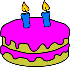 Birthday cake candle clipart clip art Birthday Cake 2 Candles Clip Art at Clker.com - vector clip art ... clip art