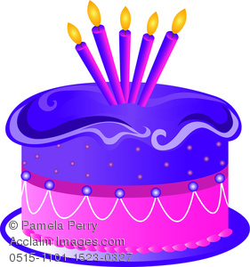 Birthday cake cartoon clipart banner free library Clip Art Illustration of a Cartoon Birthday Cake With Five Candles ... banner free library
