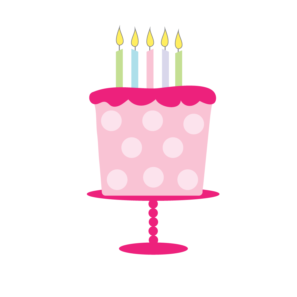 Girly birthday cake clipart stock Free Birthday Cake Clipart for craft projects, websites ... stock