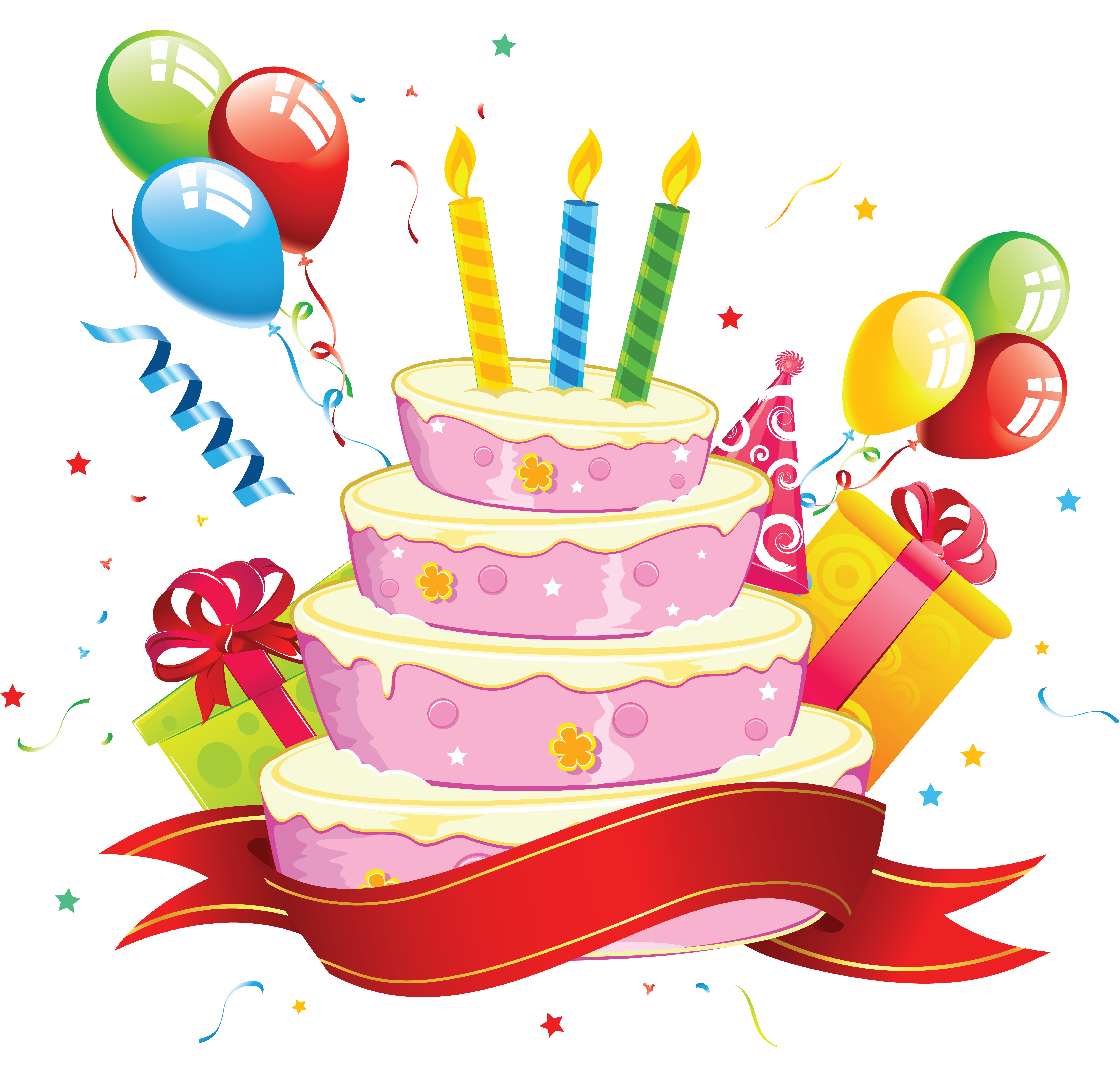 Cute birthday cake clipart jpg black and white library PNG HD Birthday Cake And Balloons Transparent HD Birthday Cake And ... jpg black and white library