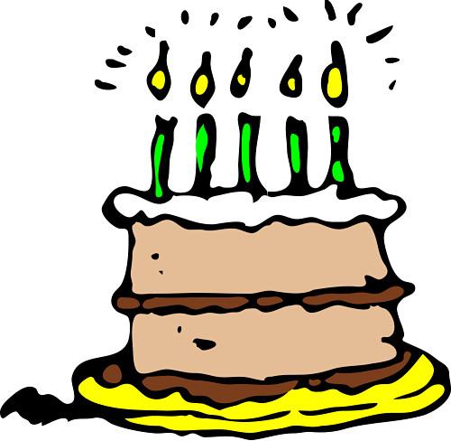 Birthday cake clip art free animated clip transparent stock Free Birthday Cake Clipart - Clipart Kid clip transparent stock