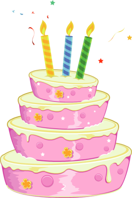 Birthday cake clip art pictures clip freeuse Pink Birthday Cake Clipart - Clipart Kid clip freeuse
