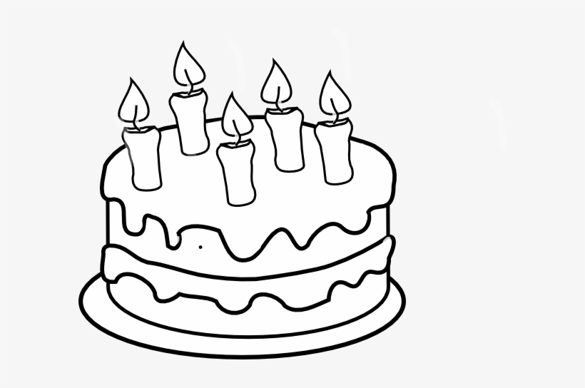 Cake clipart black and white png free Black And White Birthday Cakes Clipart - healthy food recipes to ... png free