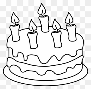 Birthday cake clipart black and white black and white download Free PNG Cake Black And White Clip Art Download - PinClipart black and white download