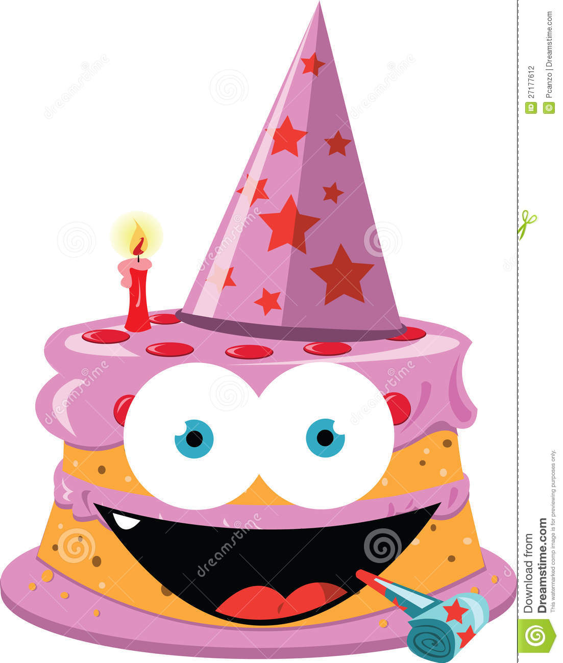 Birthday cake clipart funny jpg stock Funny Cake - Girly Version Stock Photography - Image: 27177612 jpg stock