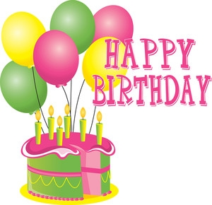 Birthday cake clipart images. And balloons clip art