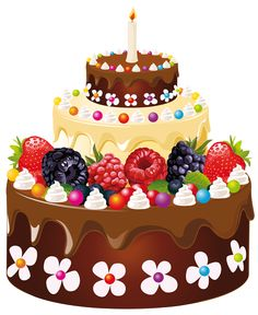 Birthday cake clipart png. Chocolate with candles art