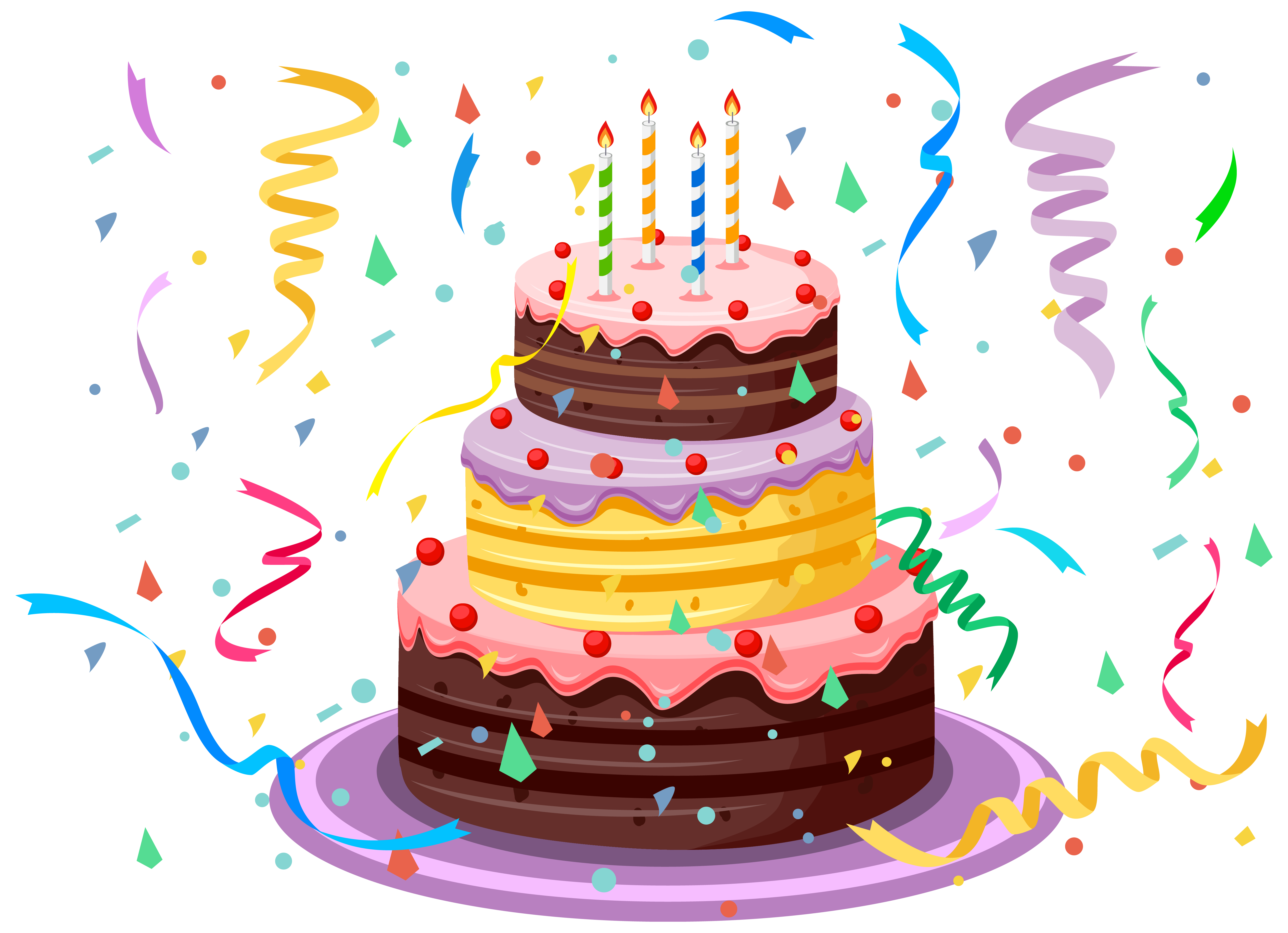 Happy birthday clipart cake vector free download Birthday Cake with Confetti PNG Clipart Picture vector free download