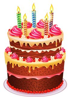 Colorful happy pinterest graphics. Birthday cake clipart png