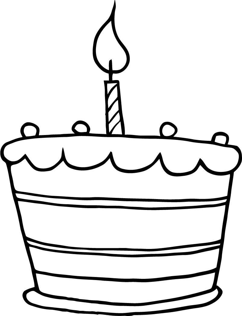 Birthday cake clipart simple