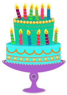 Birthday cake cute clipart graphic black and white Colorful Birthday Cake PNG Clipart | happy birthday | Pinterest ... graphic black and white