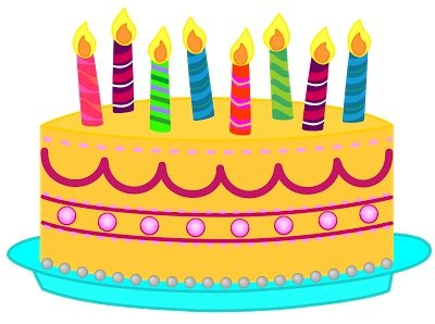 Birthday cake free clipart. Yellow clipartfest th happy