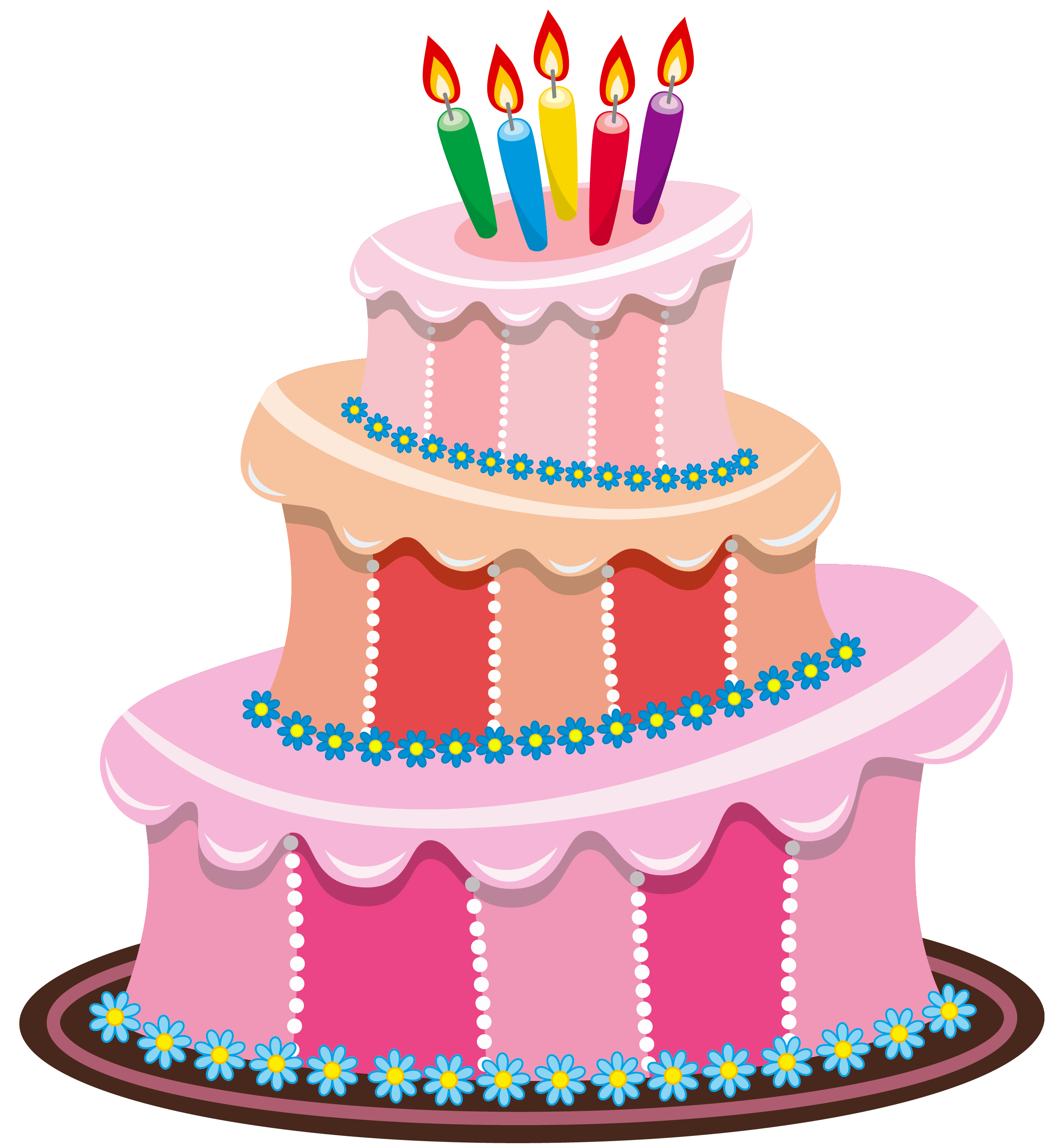 Girly birthday cake clipart clipart library Pink Birthday Cake PNG Clipart | Gallery Yopriceville - High ... clipart library