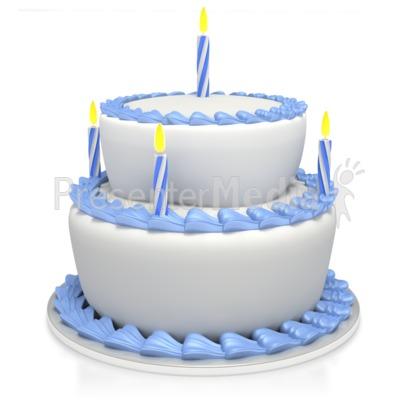 Birthday cake gif clipart image black and white stock Birthday Cake Custom - Presentation Clipart - Great Clipart for ... image black and white stock
