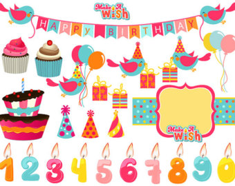 Birthday cake hat clipart graphic library Birthday hat and cake banner clipart - ClipartFest graphic library