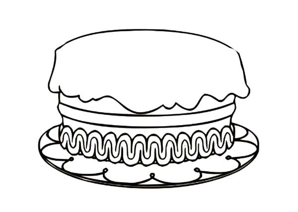 Birthday cake no candles clipart black and white black and white library Clipart Birthday Cake With No Candles - Delicious Cake Recipe black and white library