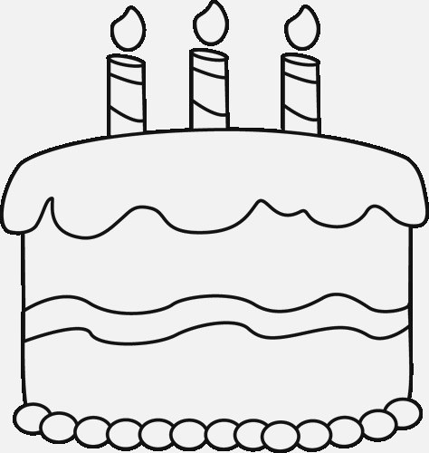 Birthday cake no candles clipart black and white clip black and white stock Birthday cake clipart black and white no candles 3 » Clipart Portal clip black and white stock