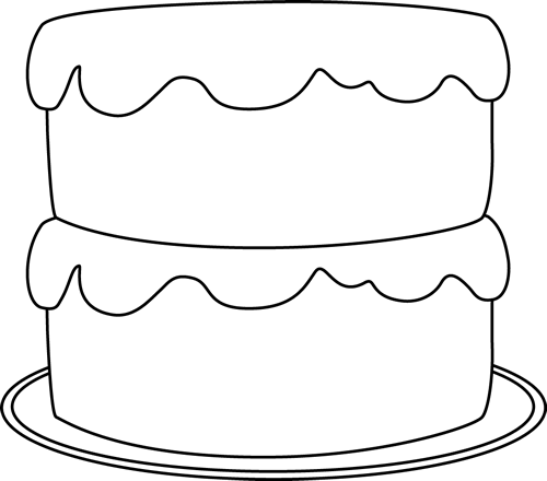 Birthday cake no candles clipart black and white image black and white stock Cake Black And White Clipart | Free download best Cake Black And ... image black and white stock